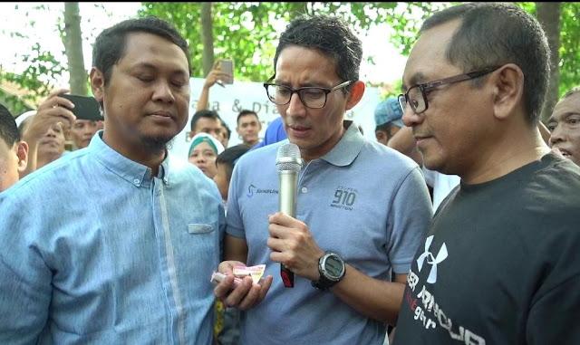 Sumbang Dana Kampanye, Warga Klaten ke Sandi: Saya Do'akan Bapak Siang Malam