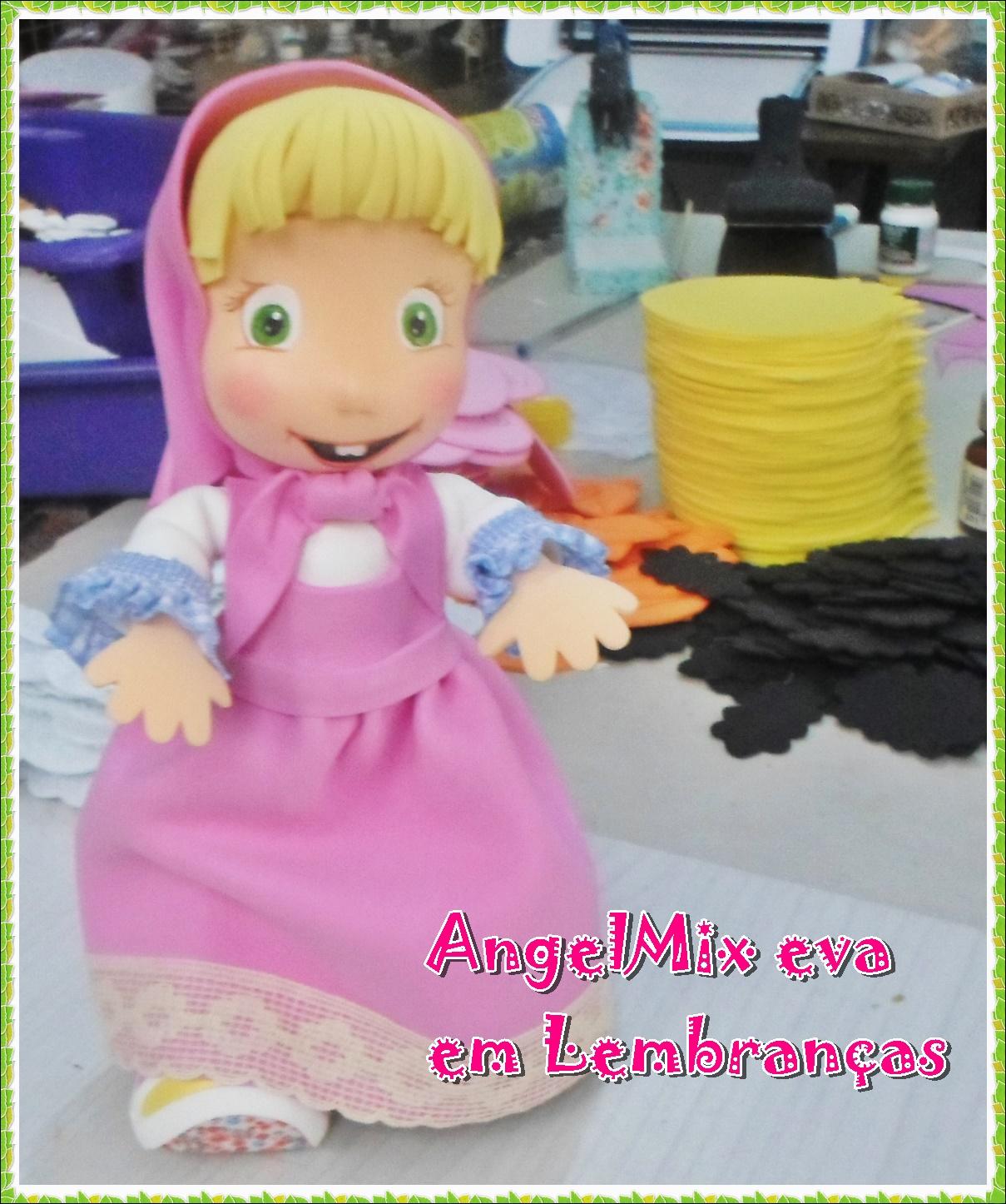 ecc6e60994 AngelMix e.v.a em lembranças  Marsha e o Urso em eva