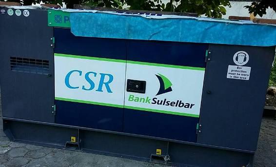 Bank Sulselbar Bantu Mesin Listrik, Untuk Masyarakat Pulau Bonerate