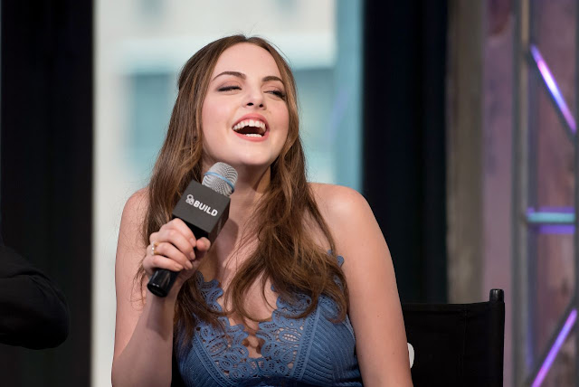 Elizabeth Gillies – AOL Build Series about 'S*x Drugs and Rock and Roll' in NYC