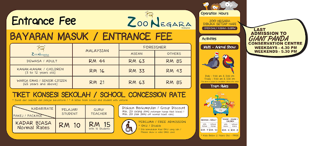 Zoo Negara Malaysia Entrance Fee