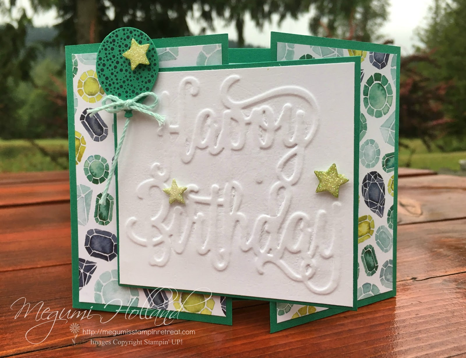 Happy Birthday Gorgeous Embossed Card   July Big Shot Class. Hello Stampers!