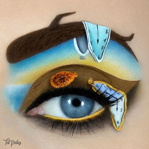 04-Salvador-Dali-Tal-Peleg-Eye-Make-Up-Art-Drawings-www-designstack-co