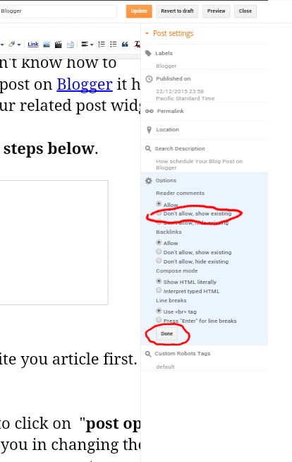 How to Disable Blogger Comment Box For a Particular Page or Post