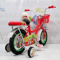 Sepeda Anak Turanza 891 Girl n Her Doggies CTB 12 Inci