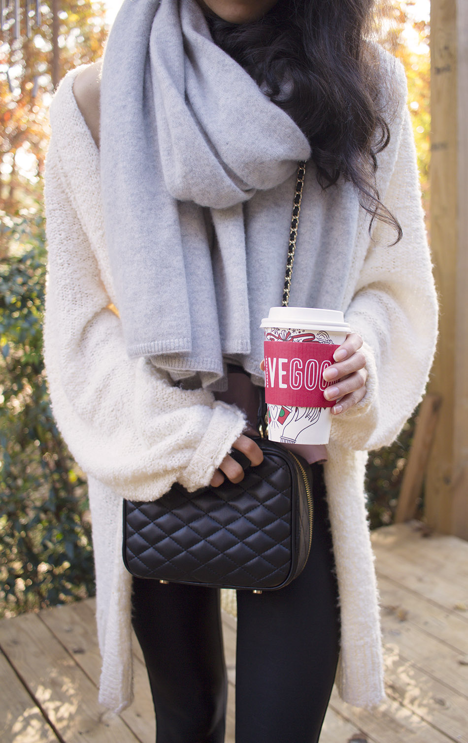 cozy fall outfits cardigan