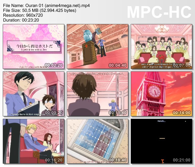 Ouran High School Host Club capitulo 01 CAPTURAS