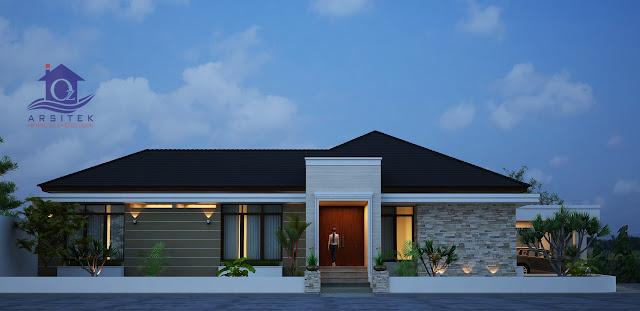Desain Eksterior Rumah Bapak Ridwan di Sumatera