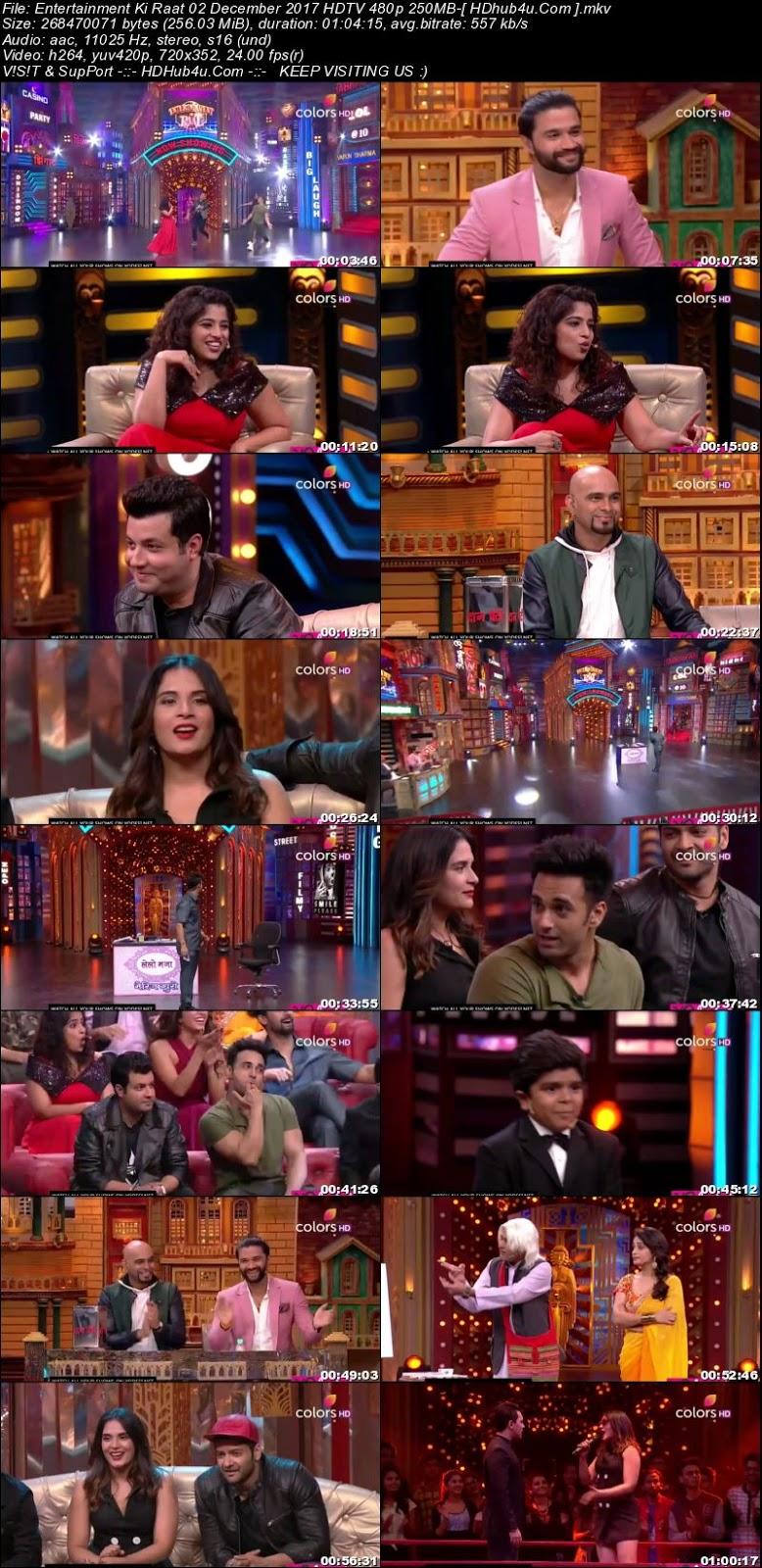 Entertainment Ki Raat 02 December 2017 480p HDTV 250MB Download