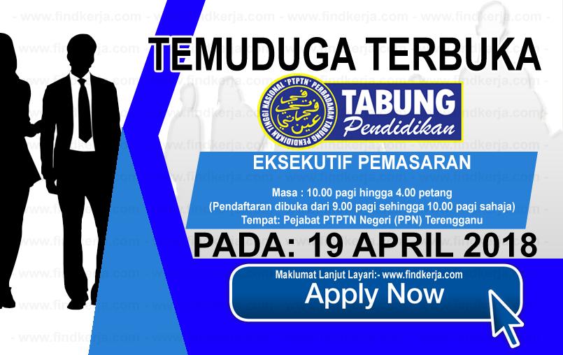 Jawatan Kerja Kosong PTPTN - Perbadanan Tabung Pendidikan Tinggi Nasional logo www.findkerja.com april 2018