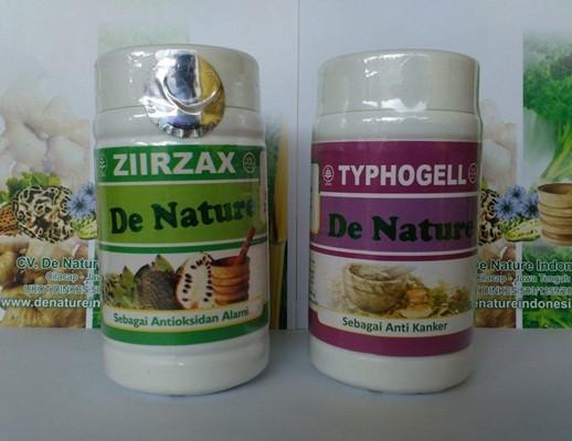 Obat Benjolan Kanker Payudara Tradisional Kapsul Typhogell dan Ziirzax de Nature