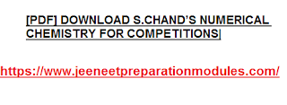 [PDF] DOWNLOAD S.CHAND'S NUMERICAL CHEMISTRY FOR COMPETITIONS|