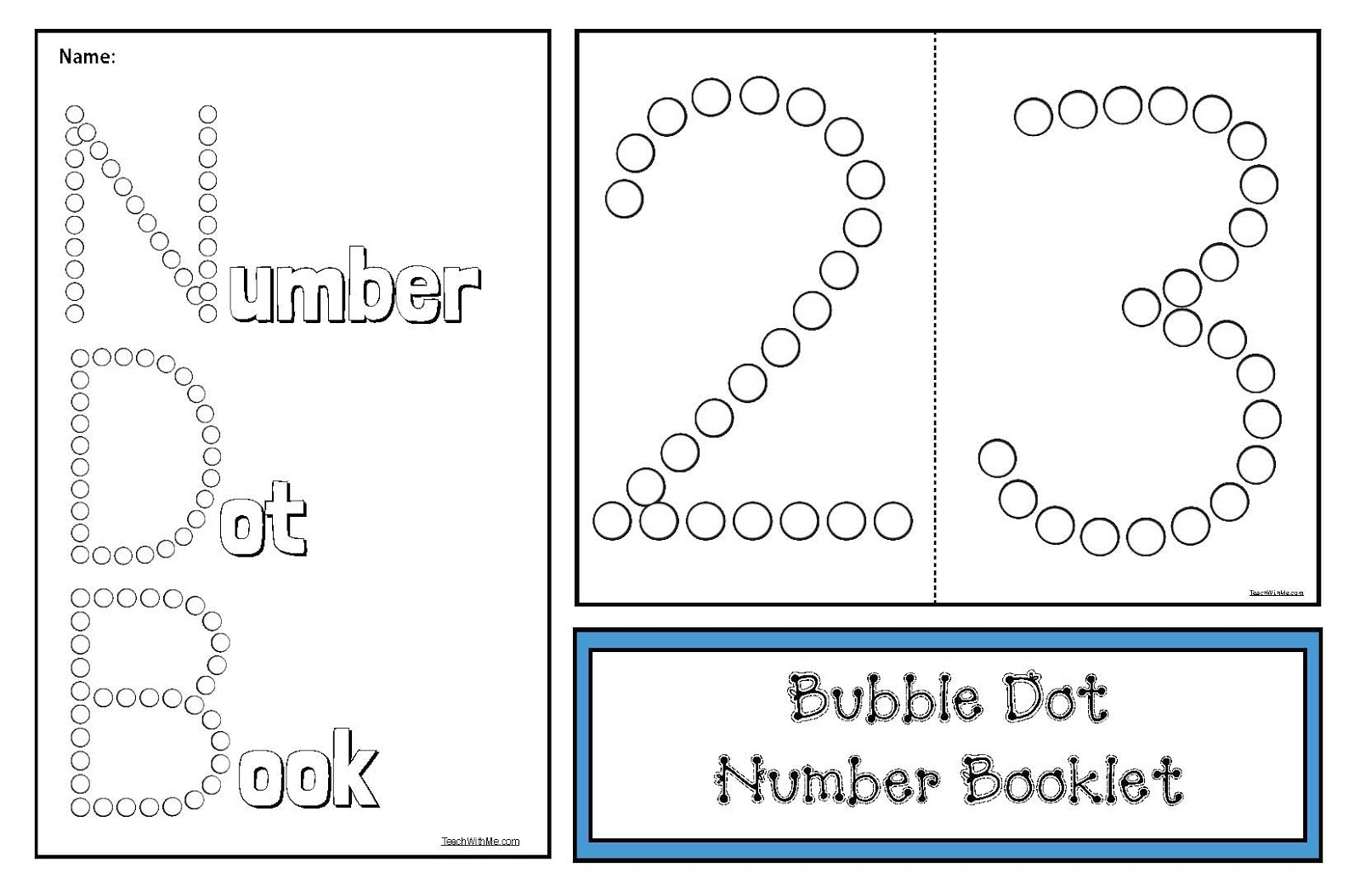 Bubble Dot Number Activities