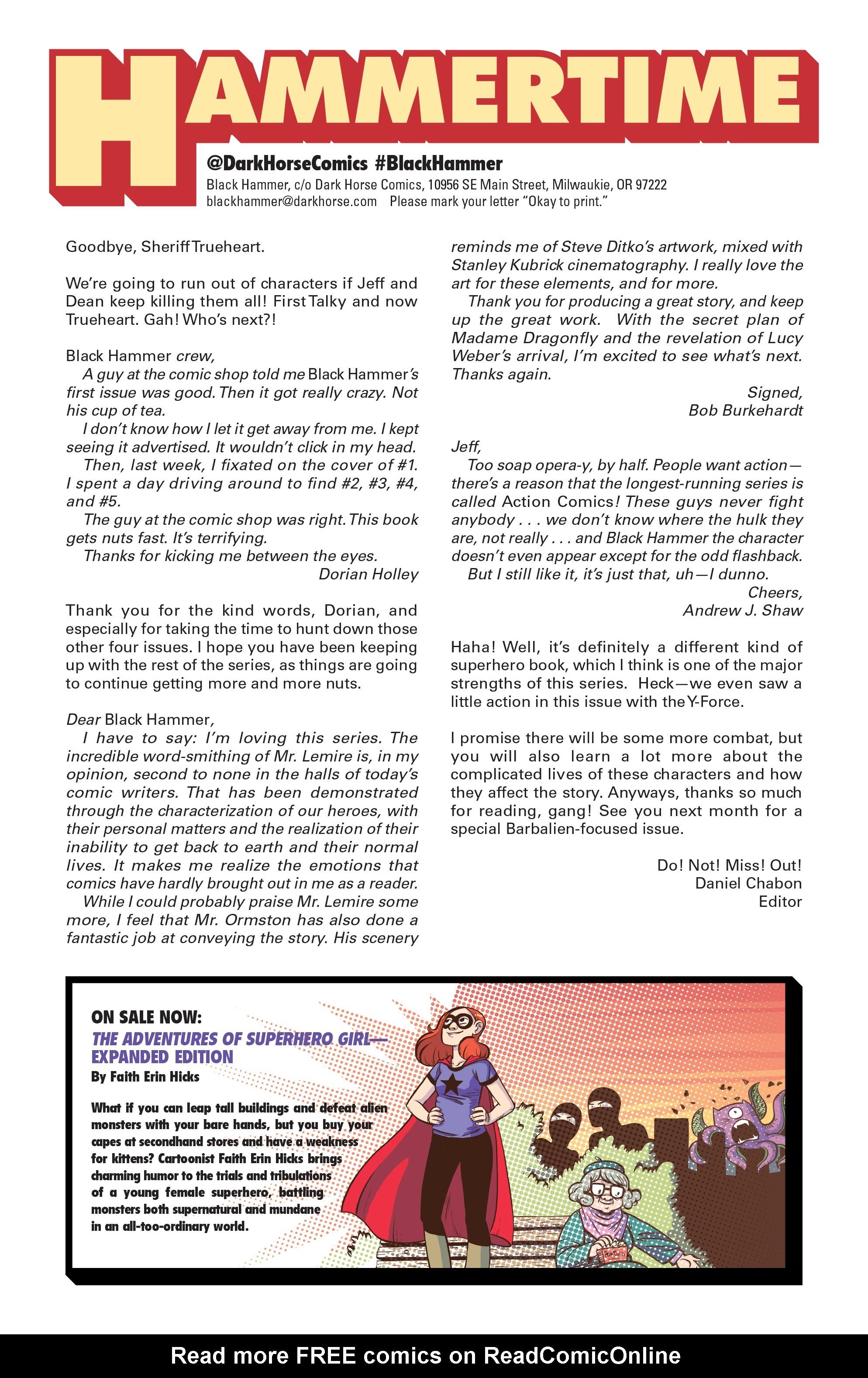 Read online Black Hammer comic -  Issue #10 - 27
