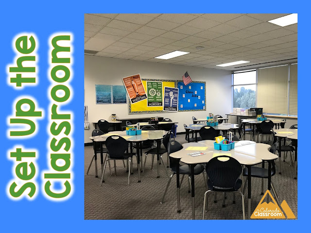 Set up the classroom before you leave each day.
