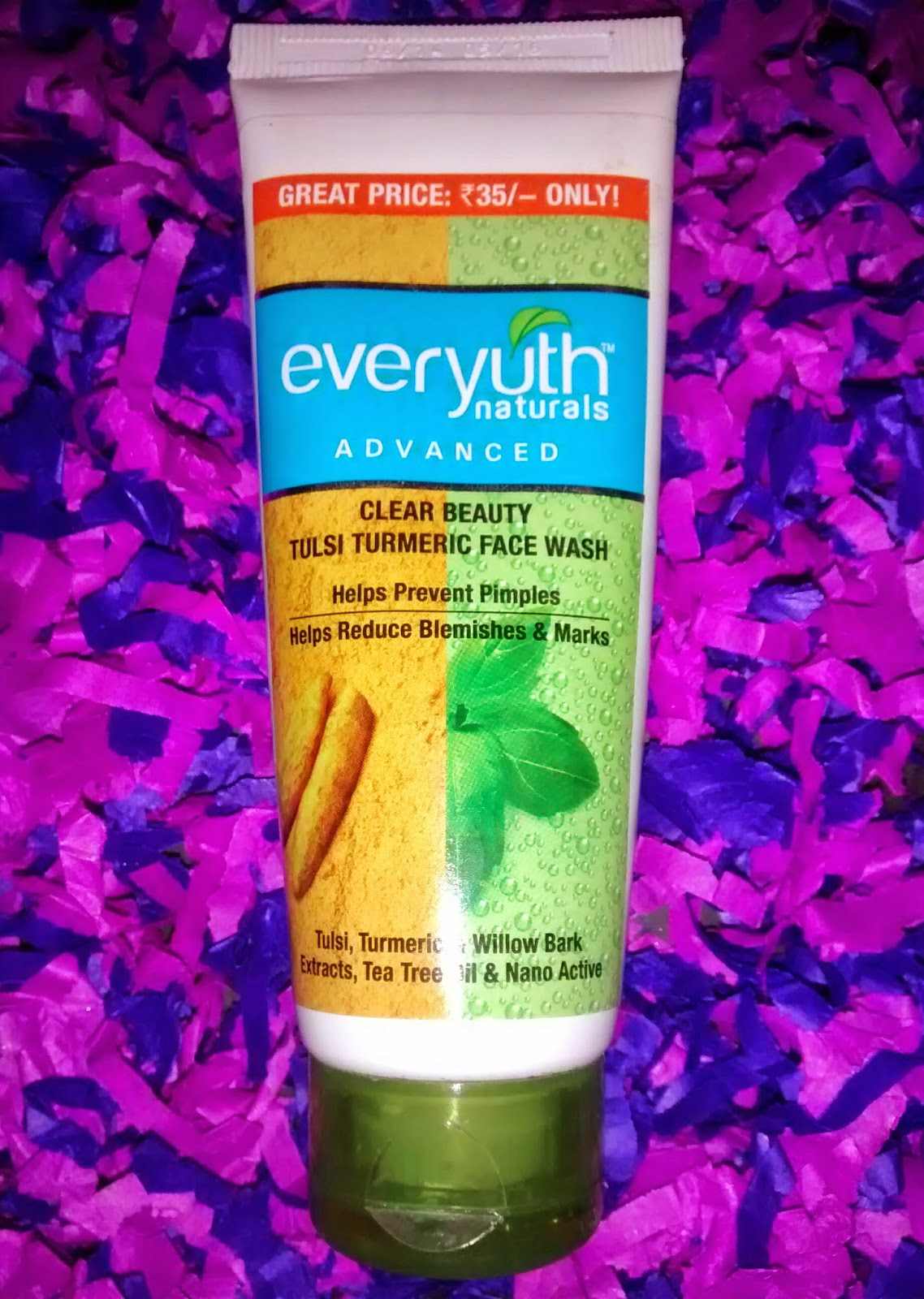Everyuth Clear Beauty Tulsi Turmeric Face Wash