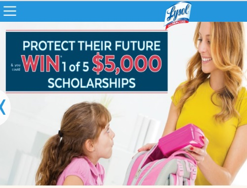 Lysol Back to School Contest