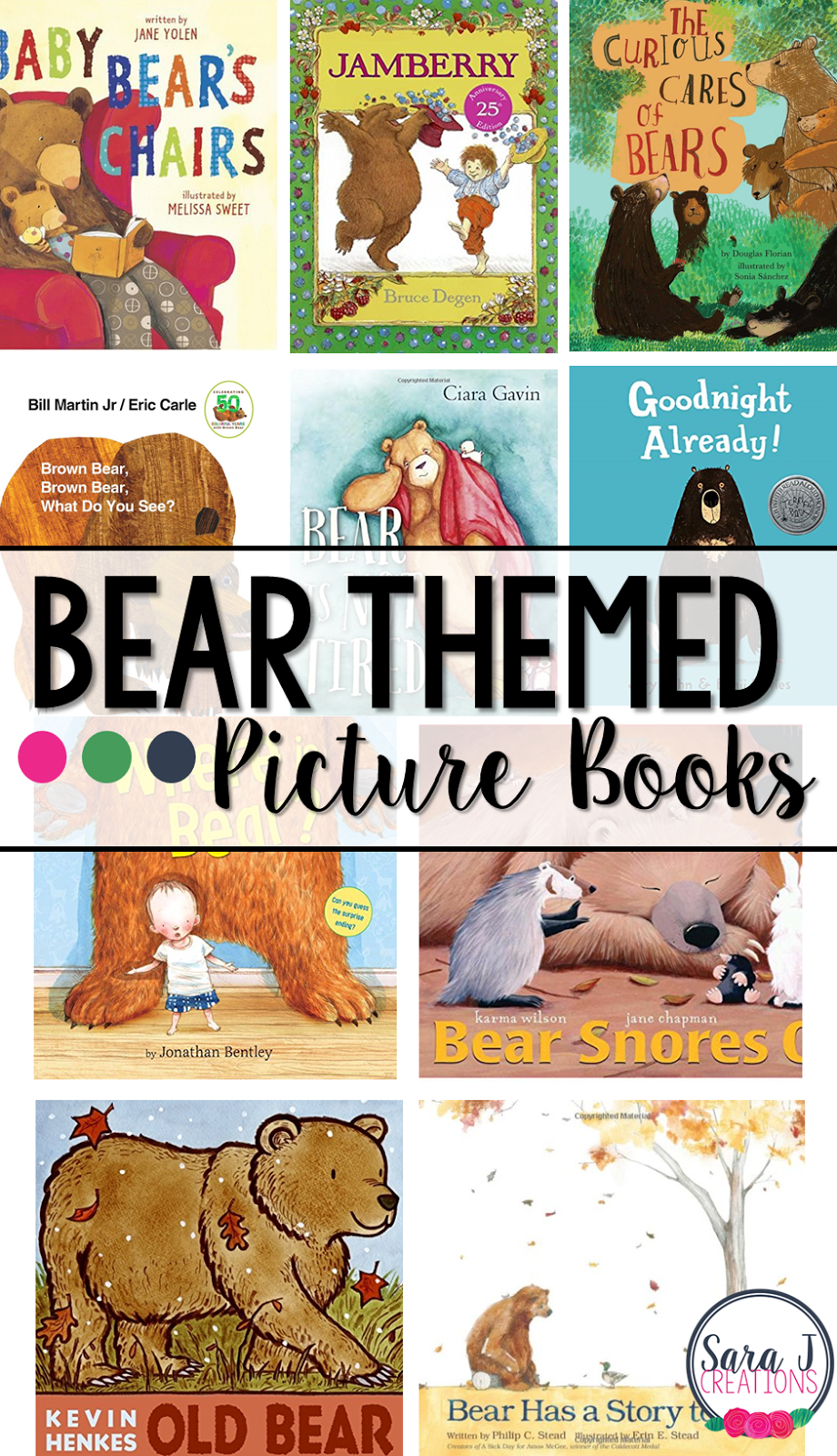 A list and review of fiction picture books all about bears. Perfect for a study about bears or a study of the letter B.