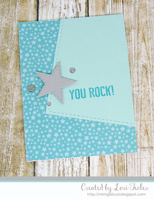 You Rock card-designed by Lori Tecler/Inking Aloud-stamps and dies from Lil' Inker Designs