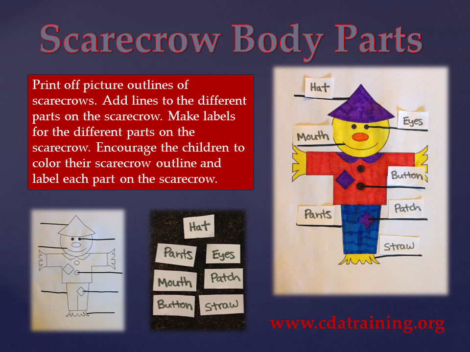 Child Care Basics Resource Blog: Scarecrow Body Parts