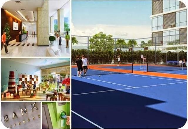 Hai sân tenis và các tiện ích khác