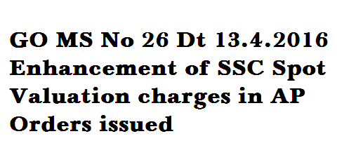 SSC Public Examinations, March 2016 – Enhancement of Rates of Remuneration payable to the personnel for conducting SSC Examinations, Teachers attending for Spot Valuation duties and contingency charges – CORRIGENDUM - Orders – Issued.