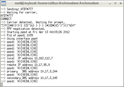 How to Connect Internet using ZTE AC2726 and ZTE AC682 USB Modem on Archlinux
