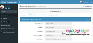 Free Download PHP Source Code Sistem Informasi Pengelolaan Kepegawaian
