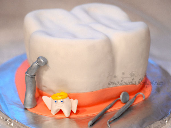 Tooth Birthday Cake