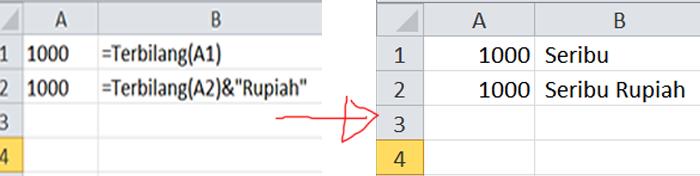 Fungsi Terbilang di Excel