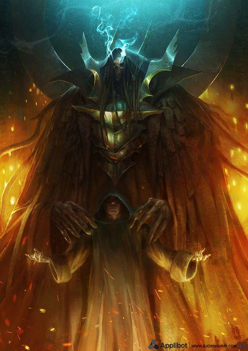 Bjorn Hurri ilustrações artes conceituais fantasia games Applibot - Keeper of Souls