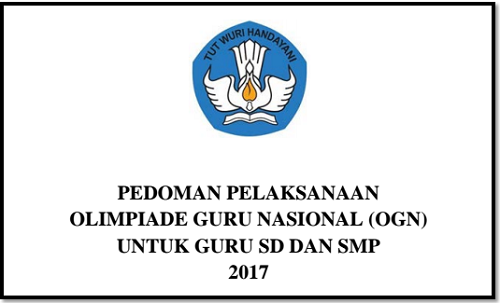 Pedoman Pelaksanaan Olimpiade Guru Nasional 2017