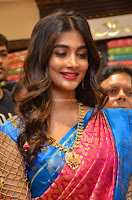 Puja Hegde looks stunning in Red saree at launch of Anutex shopping mall ~ Celebrities Galleries 012.JPG