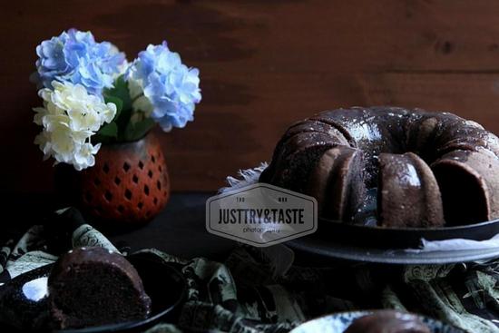 Resep Cake Kukus Ubi Jalar Ungu dengan Glazing Coklat Putih