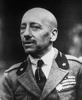 Gabriele D'Annunzio: writer and military  hero, pictured in the 1930s