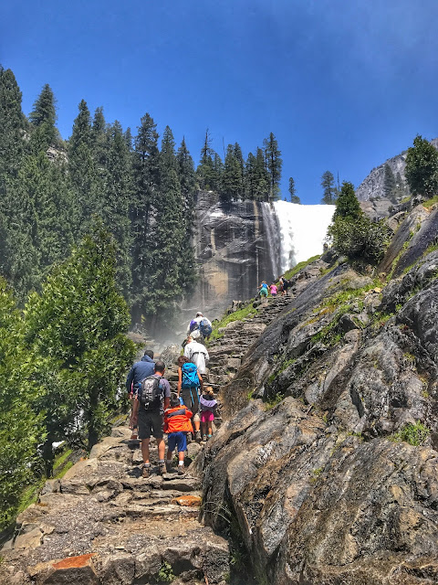 Hiking the Mist Trail to Vernal Falls