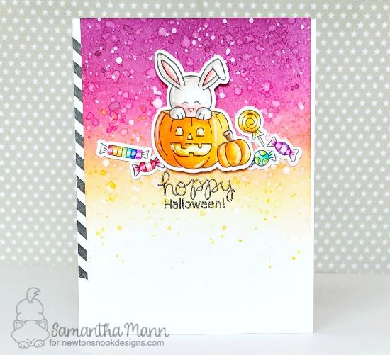 Bunny Halloween Card by Samantha Mann | Hoppy Halloween Stamp Set by Newton's Nook Designs #newtonsnook #handmade #halloween