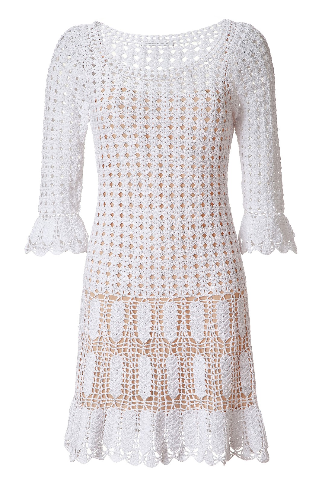 The Woman In White Crochet Dress Make Handmade Crochet