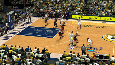 NBA 2K13 Indiana Pacers Conference Finals Court Patch