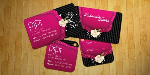 In thẻ bài, thẻ treo, nhãn mác quần áo, price tag đẹp, giá rẻ tại Hà Nội Pipi