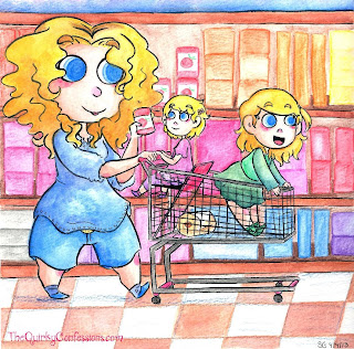 The Quirky Mom shopping with The Quirky Kids ~ TheQuirkyConfessions.com