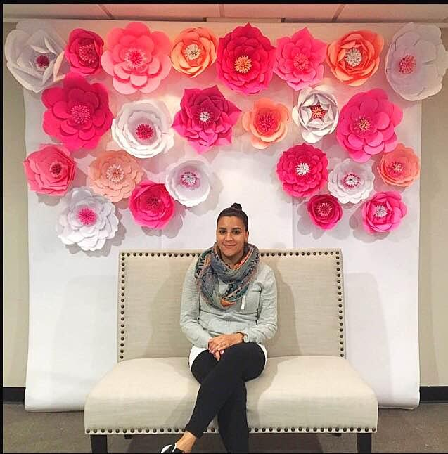 Top favorite giant paper flower backdrops abbi kirsten collections diy paper flower wall wedding backdrop mightylinksfo