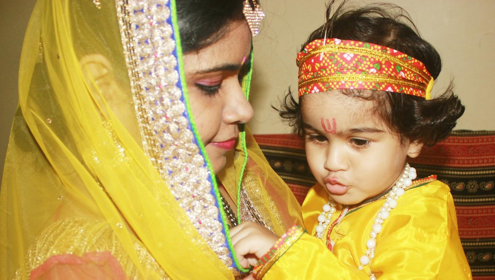 f76e854eb Janmashtami Special  Krishna and Yashoda OOTD - Makeup Review And ...