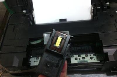 cara memperbaiki printer Canon IP 2770 tinta tidak keluar