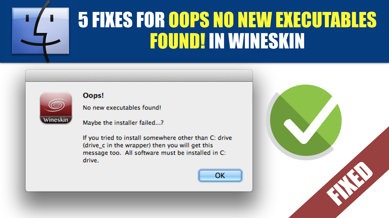 FIXED] Oops no new executables found! on Wineskin