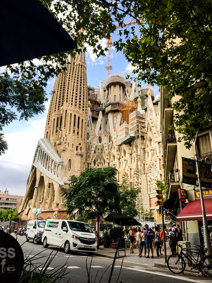 Sagrada Familia in Barcelona. famous monument.