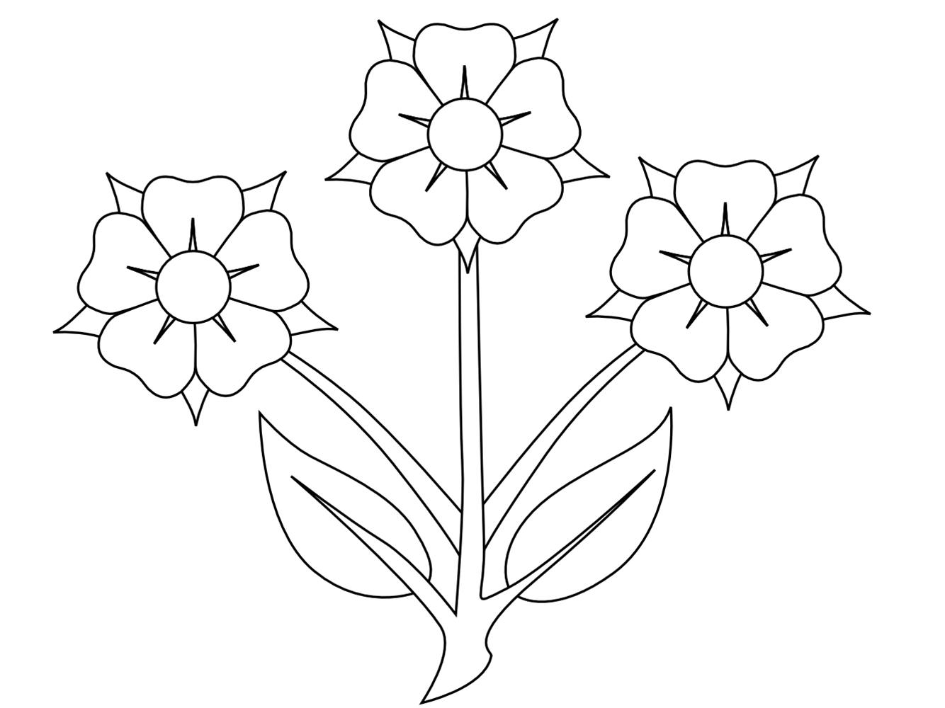 free black and white clipart of flowers - photo #36