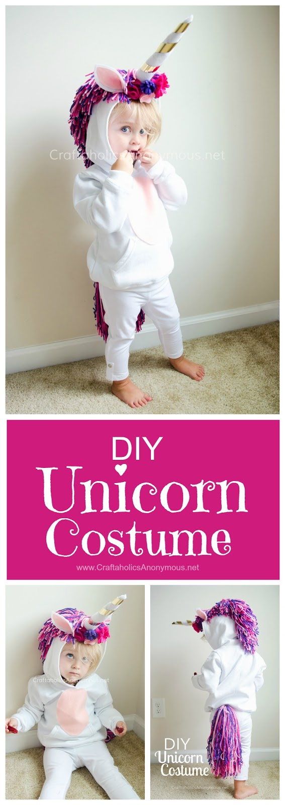 How to make an easy unicorn costume for kids
