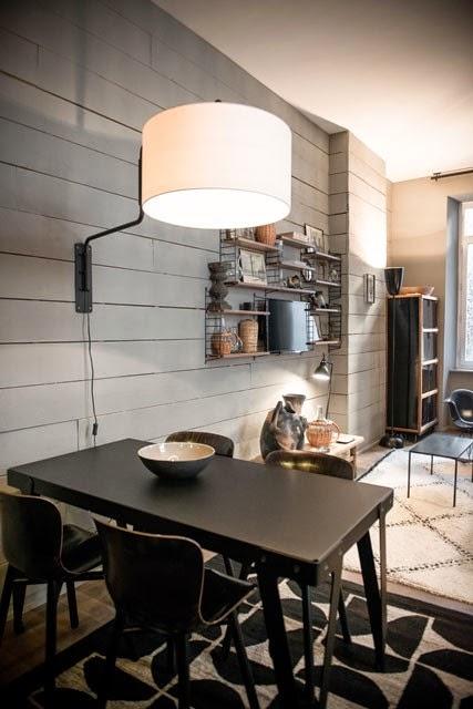 ATELIER RUE VERTE  le blog Lyon  appartement dhtes  total look gris et bleu encre