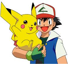 Dibujo de Pikachu con su entrenador